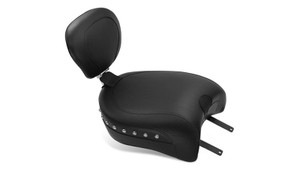 Mustang Seats Wide Touring Passenger Seat w/ Receiver for '14-Up Indian Chief Classic/Chief Vintage/Chieftain  -Studded Backrest Sold Separately (79764)