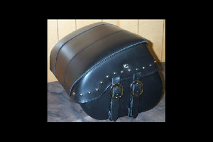 Leather Pros Trunk Bag -Large, Studded Valance