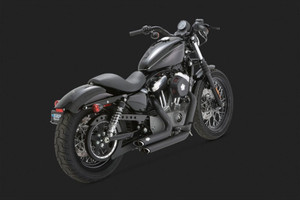 Vance & Hines Shortshots Staggered Black Exhaust for Harley Davidson XL/Sportsters '04-13