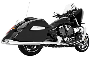 Freedom Performance  4-inch Racing Duals for '09-14 Nomad 1700, Vaquero 1700 & Voyager  -Chrome w/ Black Tips (Shown with Chrome Tips)