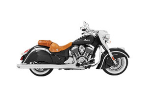 Freedom Performance Racing 4 inch Slip-On Exhaust  for '14-15 Chieftain, Springfield & Roadmaster  Chrome w/Chrome Tip