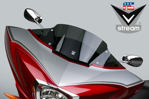 National Cycle V-Stream Windshield for Victory Cross Country/Tourer '10-Up -Sport Height, Dark Tint