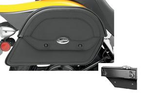 Saddlebag Package for Honda Aero 750 Models Saddlemen Cruis'n Slant Saddlebags and Easy Brackets
