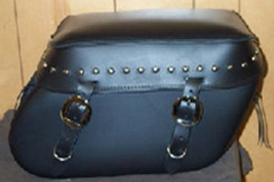 Leather Pro 3000 Series Leather Saddlebags for Sportster XL '94-Up  -Studded Valence