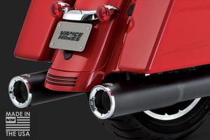 Vance & Hines 4.5 inch Hi Output Slip On Mufflers for '17-Up Harley Davidson Touring Models  -Black