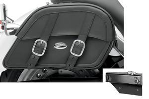 Saddlebag Package for Yamaha Models Saddlemen Drifter Slant Saddlebags and Easy Brackets