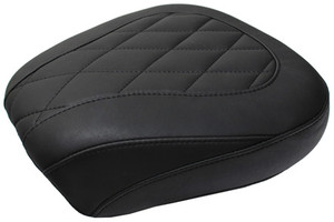Mustang Seats Wide Tripper Rear Seat for Harley Davidson Touring Models 1997-Up -with Diamond Pattern
