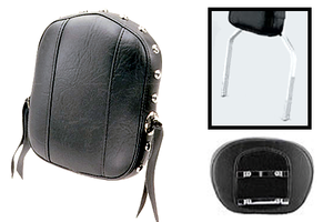 Mustang  Small Sissy Bar Pad  for OEM Yamaha SQUARE Bar  (Bar NOT Included)-Studded with Conchos