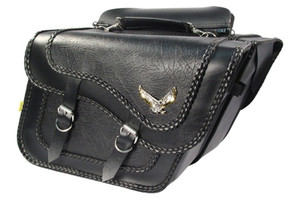 Willie & Max Black Magic Saddlebags Large Slant