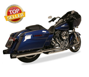 Rush Racing Big Louie 4 inch Slip On Mufflers and Tip Package for Harley Davidson Touring Models '17-Up  - Chrome