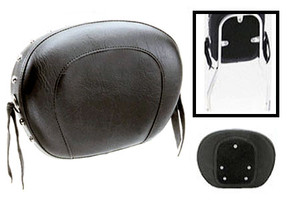 Mustang   Sissy Bar Pad for Tall Cobra Sissy Bars -Large -Studded with Conchos