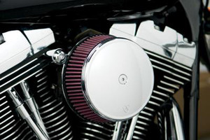 Arlen Ness   Big Sucker Stage 1 Performance Air Filter Kits with Cover for '91-Up XL w/ CV Carb or Delphi EFI -Black, Standard Filter (Shown in Chrome)