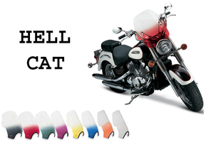 """Memphis Shades Handlebar Mount Windshield -Hell Cat Style for Victorys with 7/8-1"""" Bars"""