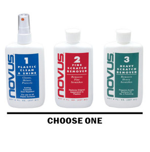 Novus Plastic Polish 3 Part System Steps 1-2 & 3 (Each Sold Separately)