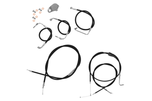 """L.A. Choppers Cable Kit for '08-13 FLHT/FLHR/FLTR/FLHX (W/O ABS) for use with 12""""-14"""" Ape Hangers -Black"""