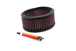 K & N  High-Flow Air Filter for Chief '99-00, Scout/Spirit '01-03  w/ S&S Teardrop Backplate & Indian Teardrop Cover -Each