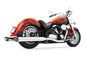 Freedom Performance 4 inch Racing Duals for '99-14 Road Star 1600/1700 -Chrome w/ Chrome Tips