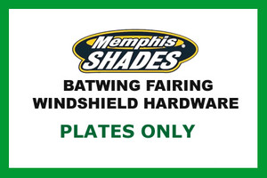 Memphis  Shades  Batwing Plate Only Kit for Road Star   '99-Up-Black FAIRING, MOUNTING KIT & WINDSHIELD NOT INCLUDED