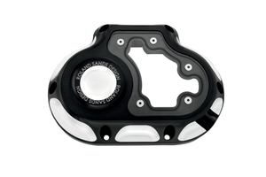 Roland Sands  6-Speed Clarity Transmission Side Cover for '07-13 Softail, FL & '06-13 Dyna repl. OEM #37116-06 -Contrast Cut