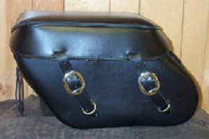 Leather Pro 3100 Series Leather Saddlebags for Dyna '93-Up (Click for Details)  -Plain