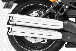 Freedom Performance Exhaust 3-1/4 inch Racing Slip Ons for '07-14 Night Rods & Night Rod Specials -Chrome w/ Chrome Tip