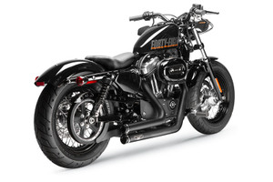 Arlen Ness by Magnaflow LOWDOWN® 2-INTO-2 Exhaust System for '04-up XL Black