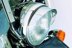 "Show Chrome Smooth Headlight Visor 7"" Universal -Each"