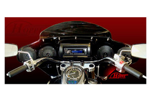 Hoppe Industries Quadzilla Fairing with Audio for '06-Up Kawasaki Vulcan 900 Classic /LT w/OEM windshield Brackets