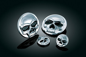 "Kuryakyn Zombie Medallions Stick-On Skull Accents -Small 1"" (Large Sold Separately) -Pair"