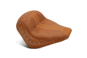 Mustang Seats Solo with Nickel Studs, Brown Vinyl for '15-Up Indian Scout