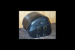 Leather Pros Trunk Bag -Small, Basket Weave & Braiding