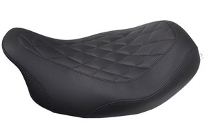 Mustang Seats Wide Tripper Solo Seat for Harley Davidson Touring Models 2008-Up -with Diamond Pattern