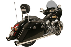Rush Mufflers WAR HORSE 4-inch Mufflers for '14-Up Indian Chieftain, Springfield and Roadmaster Muffler and Tip Package - Chrome