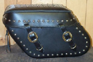 Leather Pro 3100 Series Leather Saddlebags for Dyna '93-09 (Click for Details)  -Studded