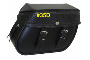 Boss Bags #35 for Dyna '94-up -Basket Weave on Lid