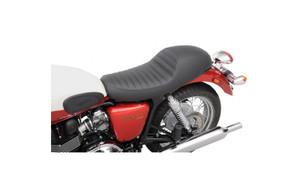 Saddlemen Americano Cafe Seats for '01-13 Triumph Bonneville SE, T100, Thruxton  - Pleated
