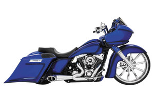 Freedom Performance  2-into-1 Turn Out for Harley Davidson Touring '95-16 - Chrome with Chrome Tip
