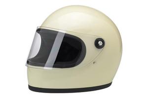 Biltwell Inc.  Gringo S Helmet  Full Face Design Vintage White