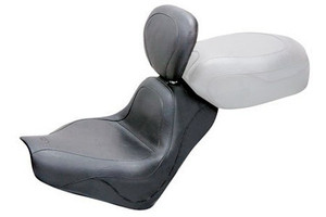 Mustang  Solo Seat with Driver Backrest  for VTX1300R '02-Up  -Sport Vintage