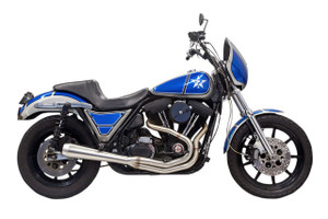 Bassani  Road Rage III 2-into-1 Exhaust for '84-00 FXR EVO Engine -Stainless