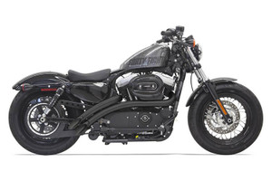 Bassani Sweeper Radius Exhaust for '14-up Sportster Models -Black