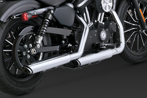 """Vance & Hines Twin Slash 3"""" Slip Ons for '14-Up Sportsters"""