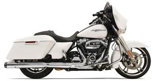 Bassani 4 inch Slip-On Quick Change Mufflers for Harley Davidson Touring Models '17-Up - Chrome