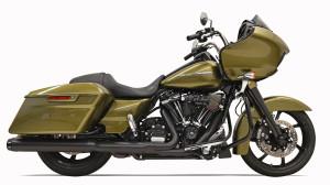 Bassani 4 inch Slip-On Quick Change Mufflers for Harley Davidson Touring Models '17-Up - Black