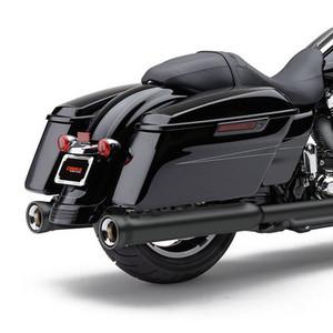 Cobra USA 4-inch Neighbor Hater Slip-On Mufflers for Harley Davidson Touring Models '96-16 - Black