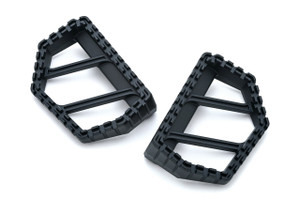 Kuryakyn Riot Mini Floorboards in Satin Black - Requires Model Specific Splined Adapter (Sold Separately)