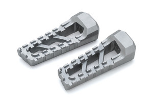 Kuryakyn Riot Footpegs in Silver - Requires Model Specific Splined Adapter (Sold Separately)