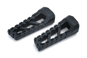 Kuryakyn Riot Footpegs in Satin Black - Requires Model Specific Splined Adapter (Sold Separately)