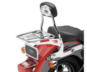 Cobra Detachable Backrest for Harley Davidson Softail Models '07-17 - Chrome