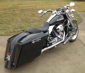 Precision Billet Bag Latches for Harley Davidson Touring Models 2014-Up, Darkside Edition -Black
